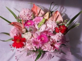 ロマンチックなピンクレッドで「サブリナ」 アレンジ