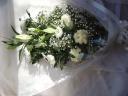 メモリアル花束 「ホワイトブーケ」