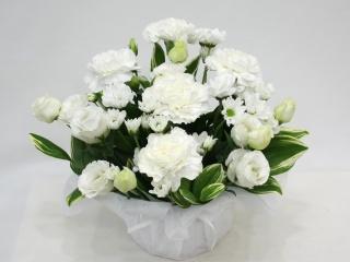 お悔やみ・お供えアレンジメント-ホワイト