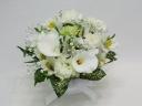 ペットの供花 ホワイトカラーのアレンジメント