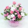 ピンクバラの可愛いアレンジメント