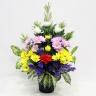 菊とスプレー菊の仏花アレンジメント
