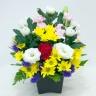 菊の仏花アレンジメント