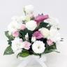 供花 ホワイトトルコキキョウとカラーのお供え花