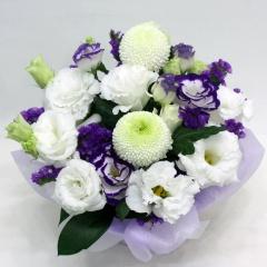 供花 ピンポン菊とトルコキキョウのお供え花
