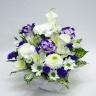 カラーと洋花・和花のお供えアレンジメント