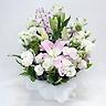 供花 クルクマとユリのお供え花アレンジメント