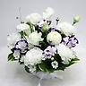 ペットの供花 白・紫 和洋混合お供え花