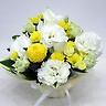 ペットの供花 ホワイト・イエローの可愛いアレンジ