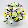 グリーンのカーネーションとスプレー菊のお供え花
