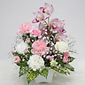 シンピジュームとカーネーションのお供え花