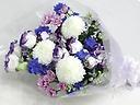 ピンポン菊とトルコキキョウのお供え花束