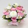 ホワイトカラーとピンク系のお花のお供え花