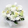 供花 ホワイトカラーとホワイト系洋花のお供え花