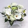 ホワイトカラーとカーネーションのお供え花