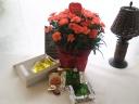 オレンジカーネ鉢とベルギーワッフル・抹茶&プレーン