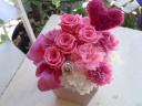 母の日ギフト「花花ハートピンク」