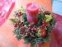 クリスマスの贈り物「アロマキャンドルアレンジ」