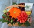陽気な花々&ハンドクリーム(オレンジ)