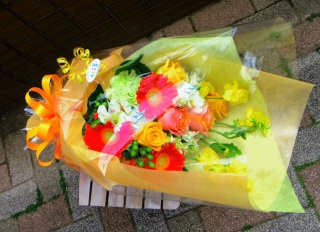primary  orennge bouquet