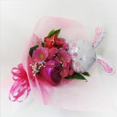★ウサギちゃん★バルーン花束ピンク