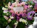 たっぷりのバラと季節のお花の贈りもの☆