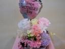 母の日バルーン付き ロマンチックピンクのプリザD