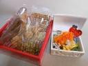 宝箱のプリザーブドフラワー&無添加焼き菓子セット
