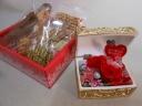 宝箱の赤バラプリザ&無添加焼き菓子セット
