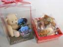 【幸せのブルーのバラ&クマさん&無添加菓子セット】