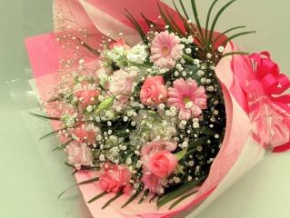 御祝の花束 ピンクミックスブーケ (H17002)