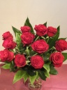 赤バラのダーズンローズ