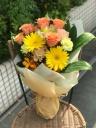 バラとガーベラの花束(オレンジ・イエローMIX)