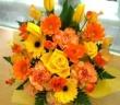 黄色オレンジのバスケット