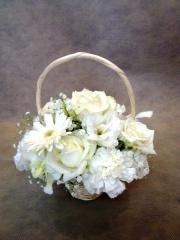 フワフワ !!  マシュマロのキュート花かご