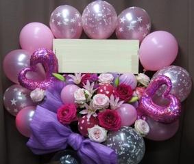 ファンタジーなピンクのスタンド花♪