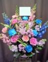 ピンク×水色☆キキララカラーの華やかアレンジメント