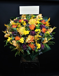 DEEP ORANGE COLOR ARRANGEMENT