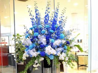 お祝い用 スタンド花  一段 胡蝶蘭入りブルー系