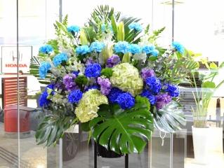 お祝い用 スタンド花  一段 ブルー系