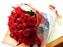 ローズブーケ 赤バラ30本の花束