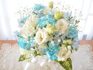 お供え用アレンジメント 洋花 Blue Angel