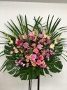 192 ピンクユリ・バラ・SPバラ スタンド花