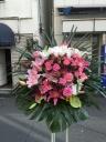 232 ピンク白ユリ・ピンクバラ スタンド花