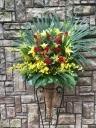 1140 Rバラ Yユリ オンシ コーンスタンド花