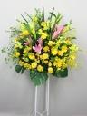 黄色のバラのスタンド花C2292