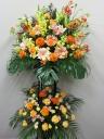 オレンジバラスタンド花2段C2293