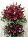 濃いピンク2段スタンド花 FR2611