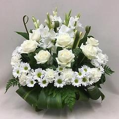【供花】エターナルリング バラのアレンジメント(H60)
