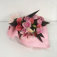 ピンク系 シングル花束